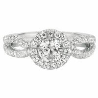Mervis Collection Split Shank Engagement Ring DERM13RDQ-F-5.7RD