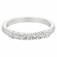 Mervis Collection Seven Stone Wedding Band DWBSP2Q-.35-F