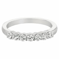 Mervis Collection Seven Stone Wedding Band DWBSP2Q-.50-F