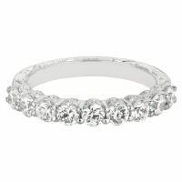 Mervis Collection hand engraved Wedding Band DWBSP4Q-1.00-F