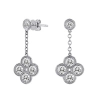 .90 Carat Diamond Earrings