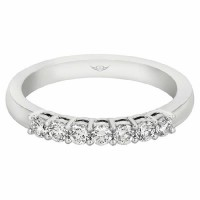 Mervis Collection Seven Stone Wedding Band SPWBAR7Q-.35-F