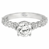Martin Flyer FlyerFit® hand engraved Engagement Ring V5139SEQ-AENG-C-7.0RD