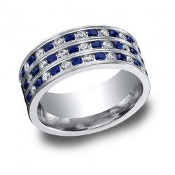 Diamonds Platinum 8mm Band