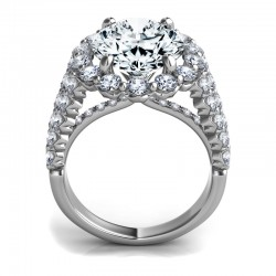"Sasha Primak Oval Diamond ""Royal Prong"" Triple-Shank Halo Engagement Ring"