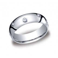 Diamonds White Gold 6mm Diamond Band