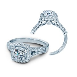 Verragio Split Shank Halo Diamond Engagement Ring