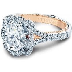 Verragio Split Shank Pave Halo Diamond Engagement Ring
