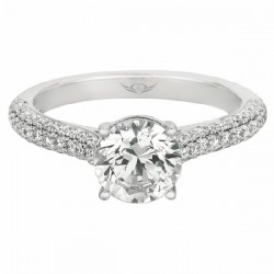 FlyerFit Bombe Pave Engagement Ring