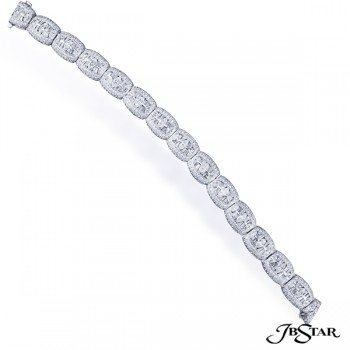 JB Star/Jewels By Star Multi-Row Diamond Bracelet