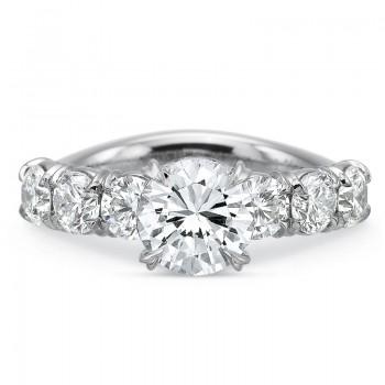 Precision Set Silk 7 Stone Engagement Ring
