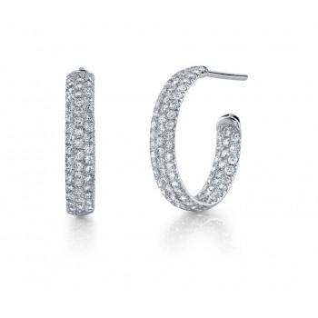 Coast Diamond Diamond Hoop Earrings - EC5123
