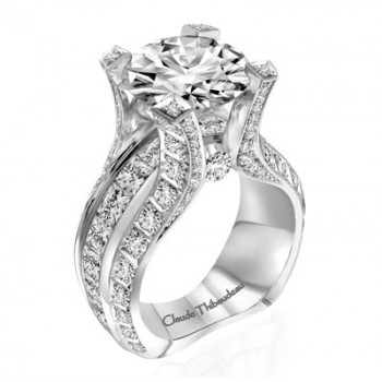 Claude Thibaudeau La Royale Platinum Sidestone Ring MODPLT-1982-MP