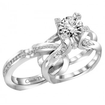 Claude Thibaudeau La Royale Modern Platinum Engagement Ring MODPLT-1863-MP