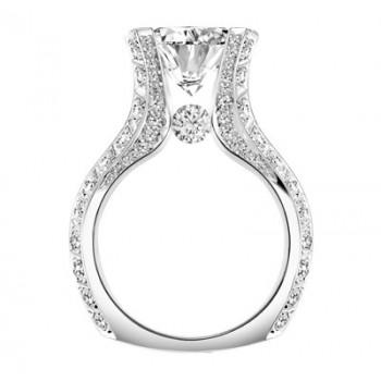 Claude Thibaudeau La Royale Platinum Sidestone Ring MODPLT-1920-MP
