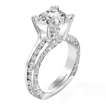 Claude Thibaudeau La Royale Platinum Sidestone Ring MODPLT-1691