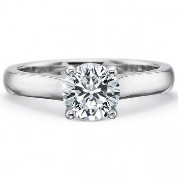 Precision Set Petite FlushFit™ Solitaire 2.7MM Band Engagement Ring
