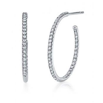 Coast Diamond Diamond Hoop Earrings - EC5134
