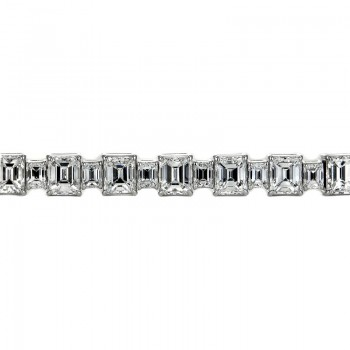 Sasha Primak Alternating Big & Small Emerald-Cut Diamond Bracelet