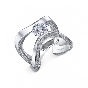 Gelin Abaci Tension Set Diamond Engagement Ring TR-300