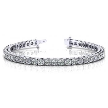 6.14 Carat Diamond Tennis Bracelet
