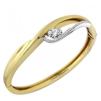 Claude Thibaudeau 18Kt Yellow Gold & Platinum Bracelet