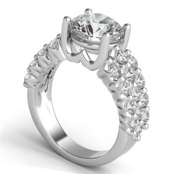"""Sasha Primak Three-row """"Royal Prong"""" Engagement Ring"""