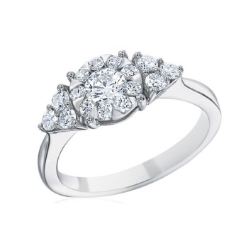 Memoire Classic Trillion Diamond Engagement Ring MBQ01ER-0050TW