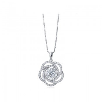 Memoire Flower Diamond Necklace