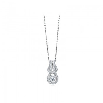 Memoire Love Knot Pave Diamond Necklace