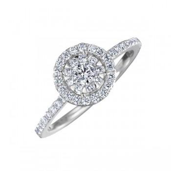 Memoire Halo Diamond Ring