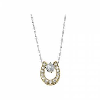 Memoire Good Luck Horseshoe Diamond Necklace
