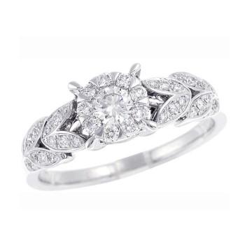 Memoire Diamond Leaf Ring