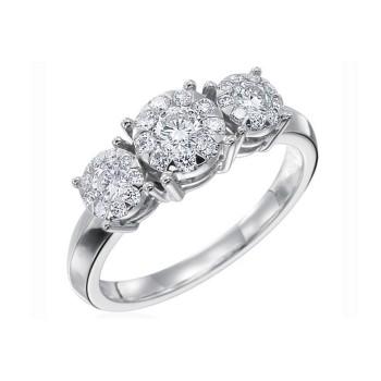 Memoire Four Prong Diamond Ring