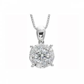 Memoire Four Prong Diamond Necklace