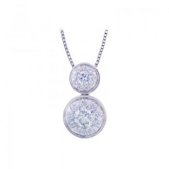 Memoire Bezel Set Mother-Child Diamond Necklace