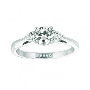 Mervis Bridal Three Stone 14K White Gold Engagement Ring