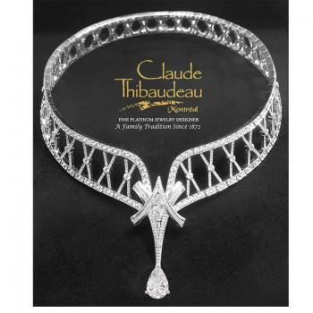 Claude Thibaudeau Platinum or 18Kt White or 14Kt White Necklace