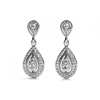 .87 Carat Diamond Earring