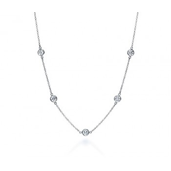 1 ct Diamonds by the Yard Style Necklace