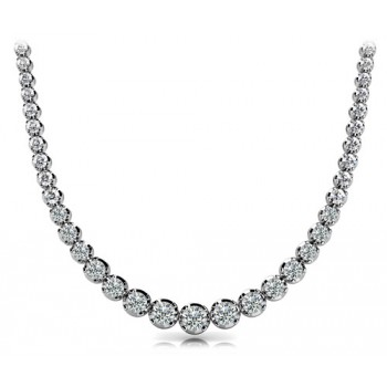 9.56 CT White Gold Diamond Necklace