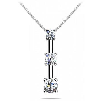 .62 Carat White Gold Diamond Pendant