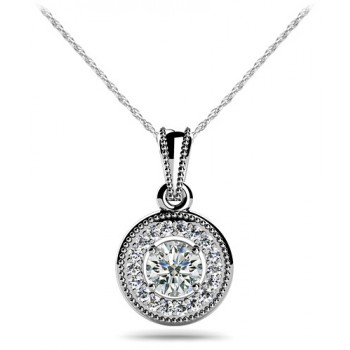 .64 Carat White Gold Diamond Pendant