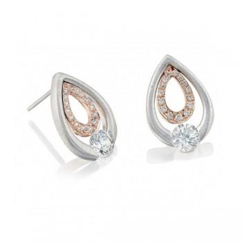 Gelin & Abaci 14K White Gold Earrings TE-018