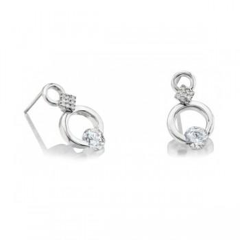 Gelin & Abaci 14K White Gold Earrings TE-019