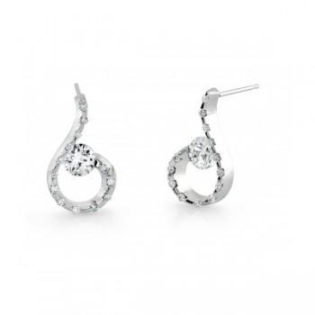 Gelin & Abaci 14K White Gold Earrings TE-020