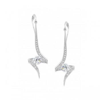 Gelin & Abaci 14K White Gold Earrings TE-021