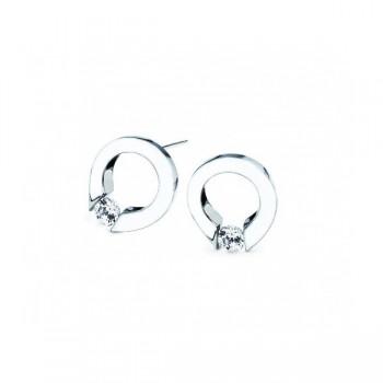Gelin & Abaci 14K White Gold Earrings TE-001