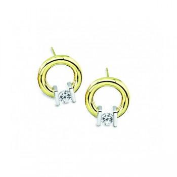 Gelin & Abaci 14K White Gold Earrings TE-005