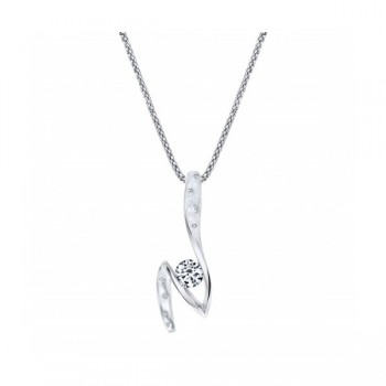 Gelin Abaci 14k White Gold Diamond Pendant TN-057